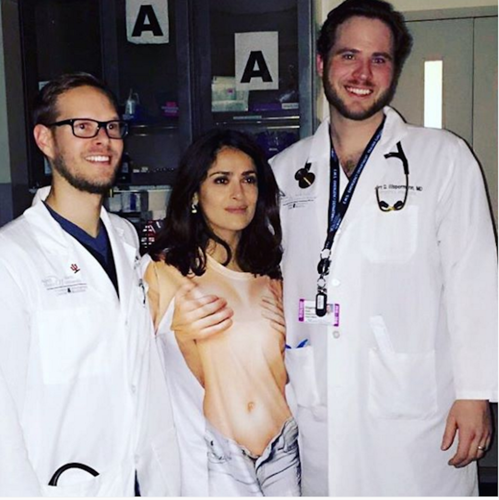 Salma Hayek Had To Go To The ER In An Embarrassing T-Shirt