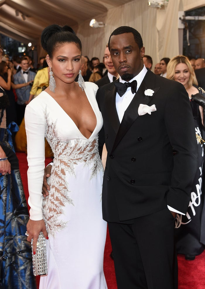 Cassie and Sean Combs at the 2015 Met Gala.