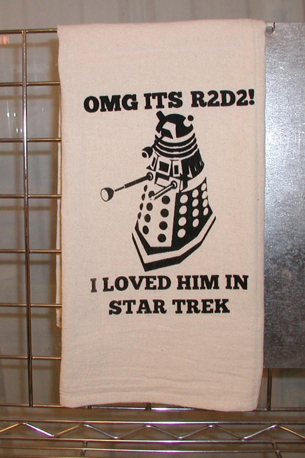 This multi-fandom tea towel.