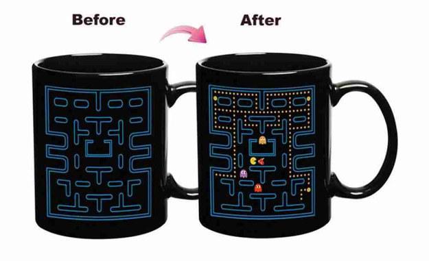 This heat-changing Pac-Man mug.