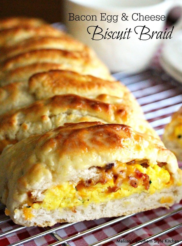 Bacon, Egg, and Cheese Biscuit Braid