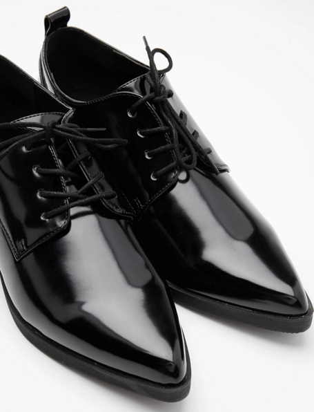 These versatile faux patent oxfords for $29.90.