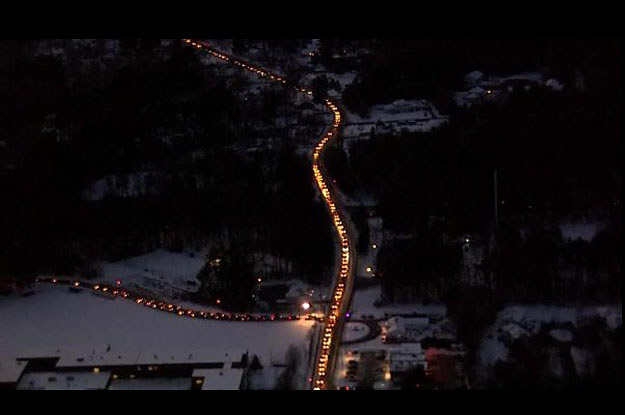 Just Look How Insane The Traffic Is For These New Hampshire Voters
