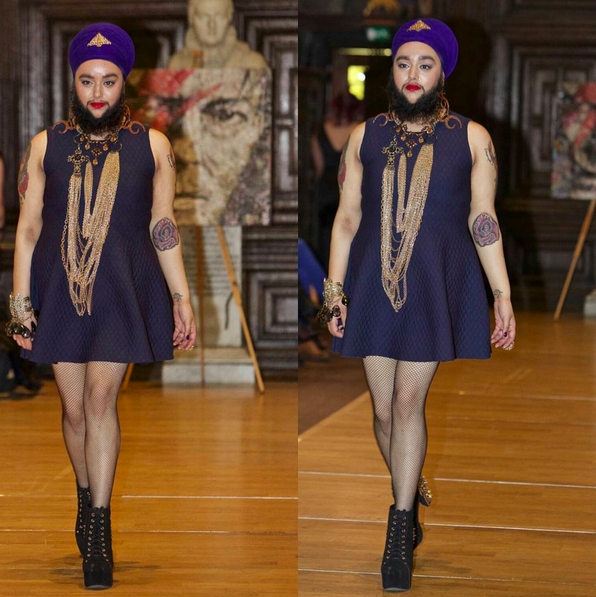"""Walking the runway was incredibly liberating. I finally had my chance to show people my confidence and my 'stick it to the norms of beauty' attitude. I knew that people in the audience would either look at me in shock and surprise,"" Kaur tells BuzzFeed."