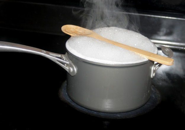 Use a wooden spoon to prevent your pots from boiling over.