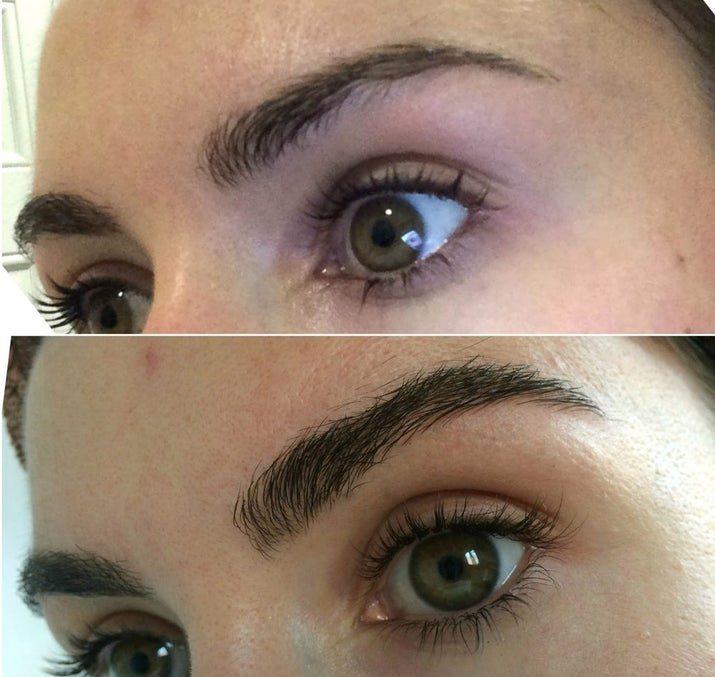 """You can apply a growth serum like Rapid Brow at night and see results in """"as little as 60 days."""""""