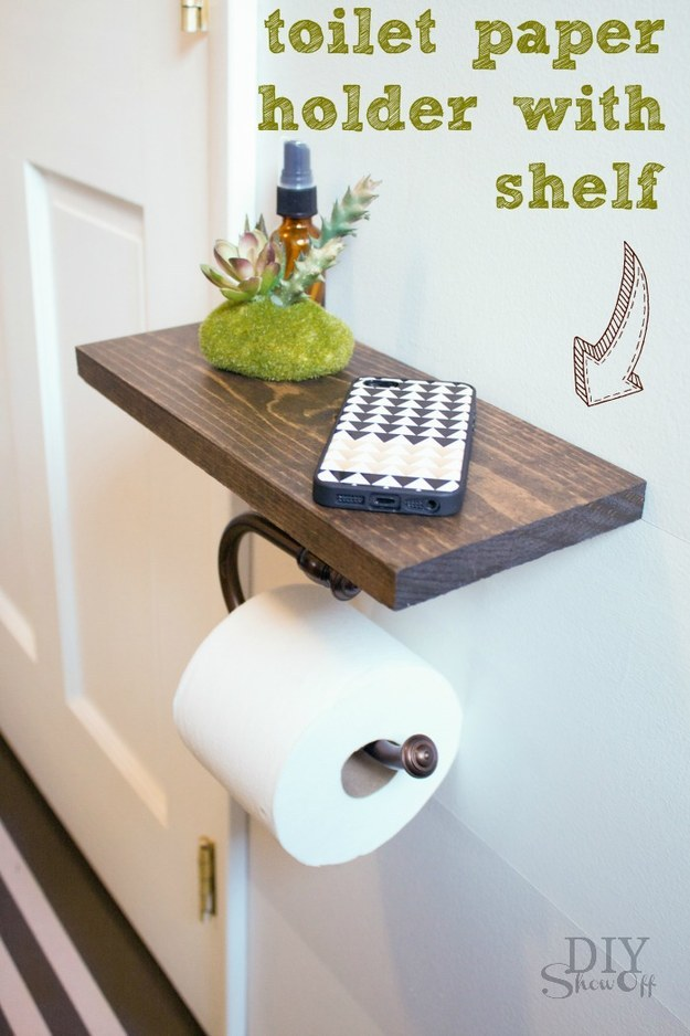 This toilet paper holder that knows you bring your phone into the bathroom with you: