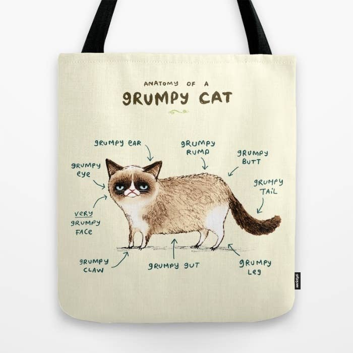 Grumpy from head to tail...err, toe.Get the tote here. See more from Sophie Corrigan here.