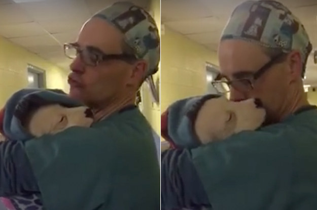 This Video Of A Vet Comforting A Scared Puppy After Surgery Is So Cute It Hurts