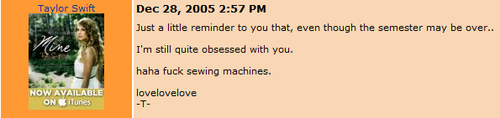 You have to see the comments she used to leave on other people's walls. They're 2005–2006 gold.
