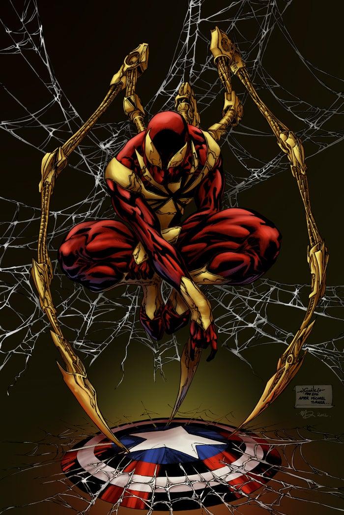 Conocido como Iron Spider, el traje tenía muchas ventajas tecnológicas remanentes de los trajes de Iron Man. Durante los eventos de Civil War, Spider-Man dejó el traje por que sabía que Tony podía usarlo en su contra.
