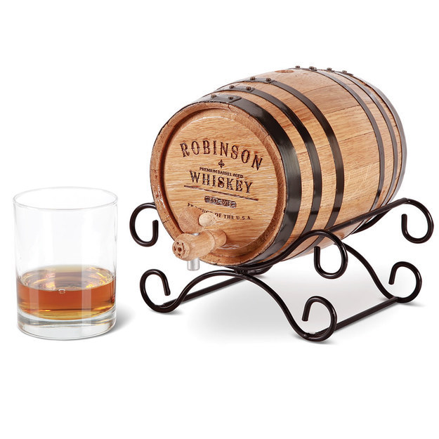 This personalized whiskey barrel.