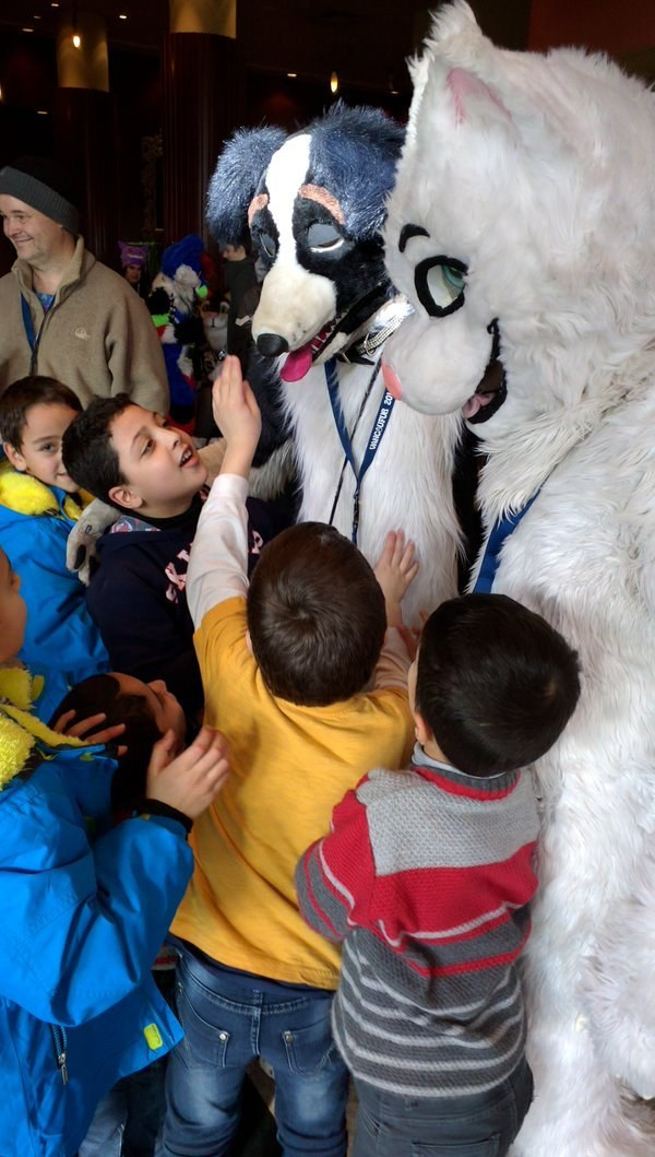 syrian refugees had to share a hotel with a furry