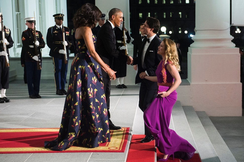 Justin Trudeau attended a state dinner at the White House Thursday night, the first state dinner for a Canadian prime minister in 19 years.