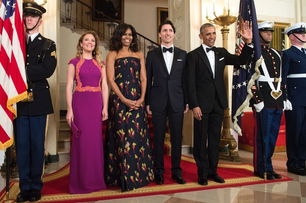 Sophie Gregoire-Trudeau and Michelle Obama looked amazing. Justin Trudeau and Barack Obama looked like men in tuxedos.