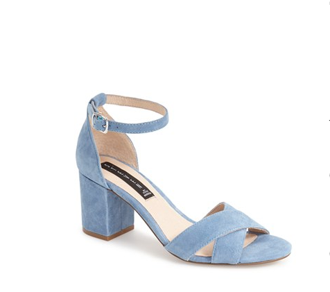 Get them from Nordstrom for $81.71 in blue, black or tan suede.