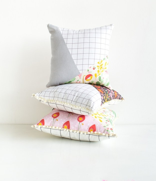 And these Patchy Pattern Pillows