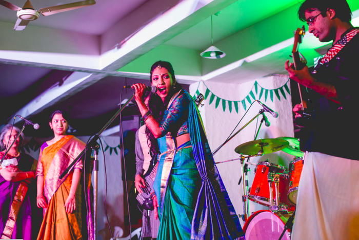 """We presumptuously told them we were going to perform and they were just happy we were showing some interest with wedding prep. We have both played in bands in India for a while so they're used to it, I think,"" they added."