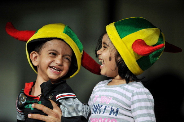 And two toddlers at a Super Kings match prove it's never too early to start rooting for your hometown.