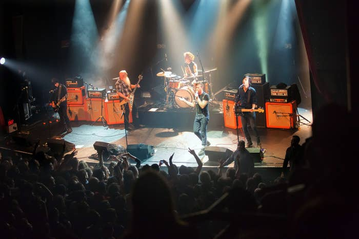 The Eagles of Death Metal playing at the Bataclan moments before the attack.