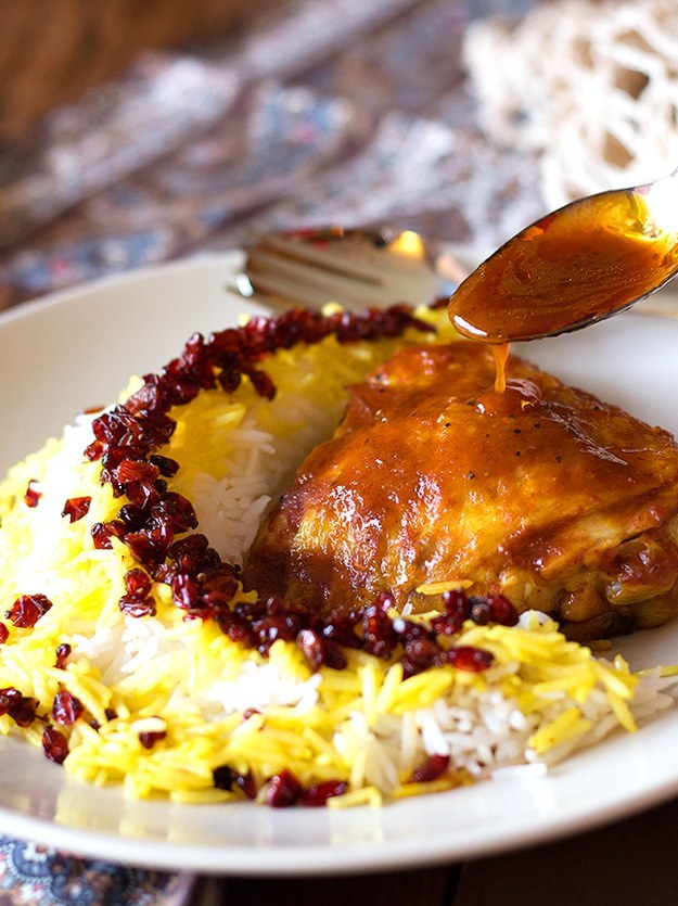 Persian Barberry Rice with Chicken