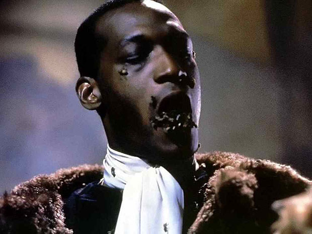 Or you totally knew that Tony Todd put actual bees in his mouth while filming this scary Candyman scene.