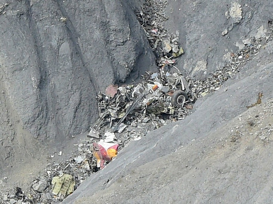 Debris at the crash site.