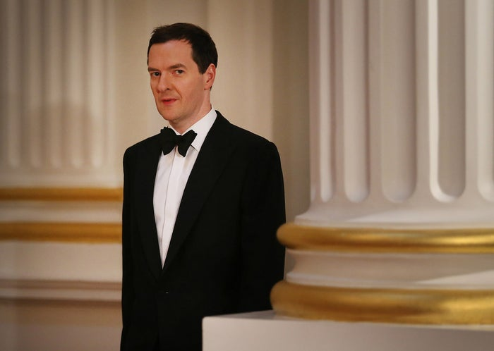 That's George Osborne, the chancellor of the exchequer. He's in charge of money things in the government. That's why he's wearing a bow tie.
