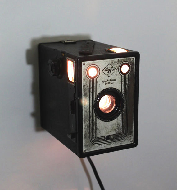 Get ready for your close-up with this converted box camera from the 1930's.