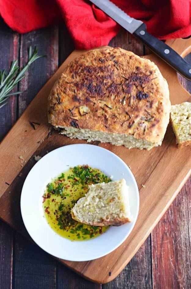 Rosemary olive oil bread you can make in your Crock Pot: