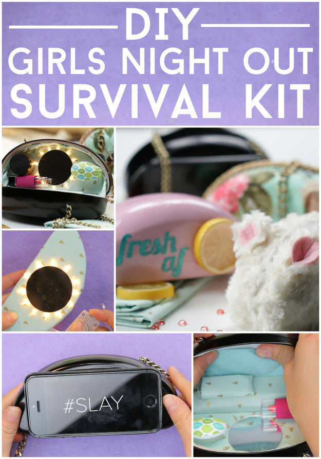 This Diy Girls Night Out Survival Kit Will Blow Your Mind