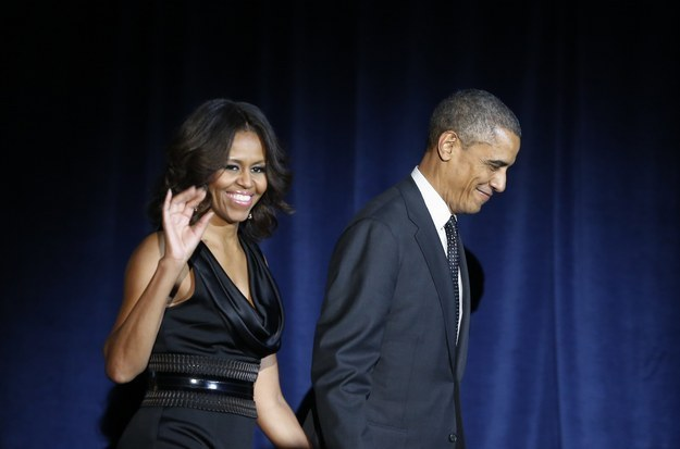 """President Obama says he thinks his daughters are lucky because they have a great body image role model: Their """"gorgeous"""" mother."""