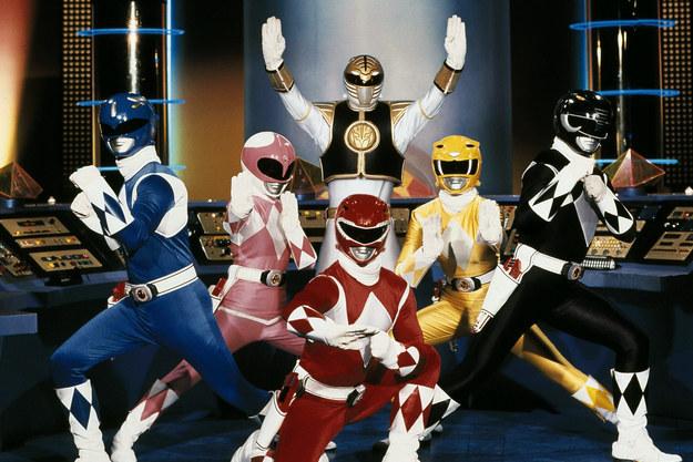 """Os """"Power Rangers"""" estrearam como """"desenho"""" exibido no programa."""