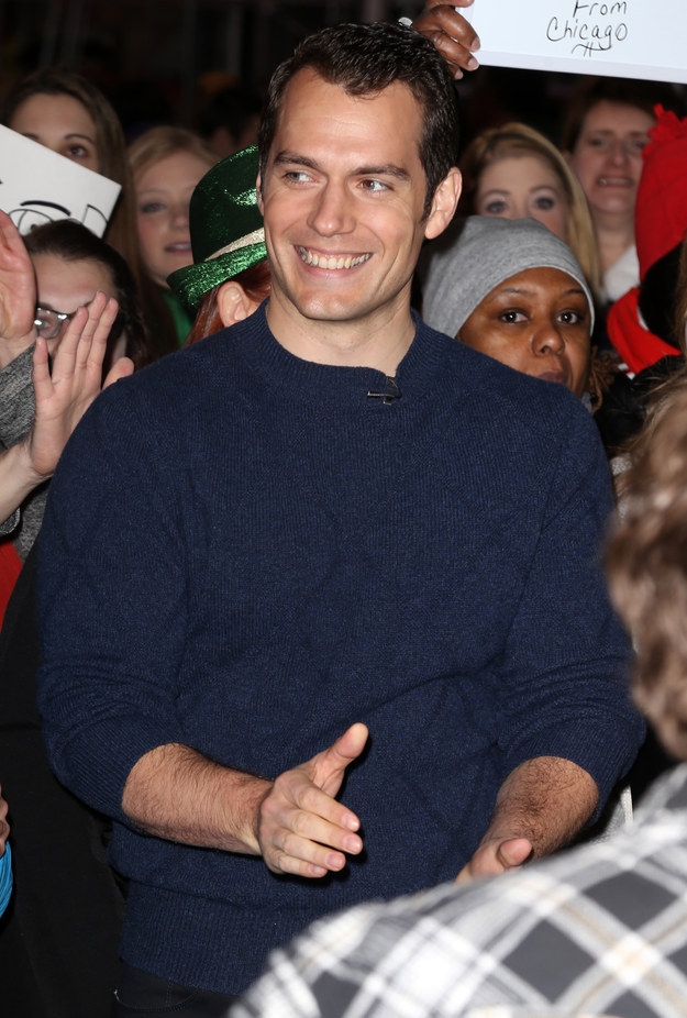 This of course is the most perfectly sculpted man, Henry Cavill.