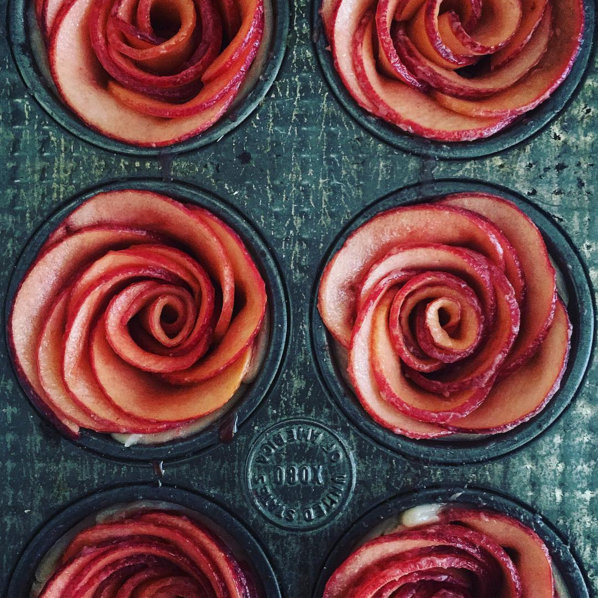 These apple roses.