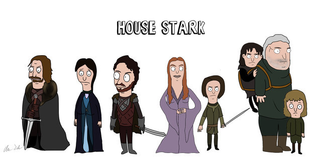 Artist Alex Cohen has already wowed the internet with these illustrations of Game of Thrones characters in the style of Bob's Burgers.