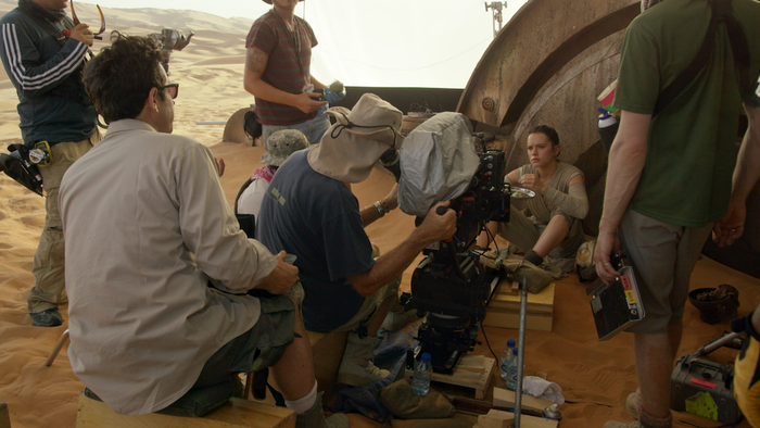 """The task of casting an unknown to play Rey — a character who had to be at once fierce and vulnerable, earnest and capable—was a daunting one for Abrams and his team. But the documentary includes footage of one of Ridley's auditions, in which Kylo Ren tries to use the Force to get inside Rey's head, and it is clear the part was hers. """"She just blew my mind,"""" Abrams says in The Secrets of """"The Force Awakens"""": A Cinematic Journey. """"She's reaching this depth of struggle, and tears are streaming down her face. … I thought, Oh my god.""""You can watch Ridley's audition here."""