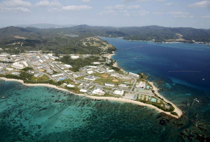 Camp Schwab on Okinawa Island.