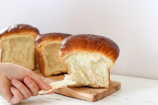An uber-fluffy batch of Hokkaido milk bread: