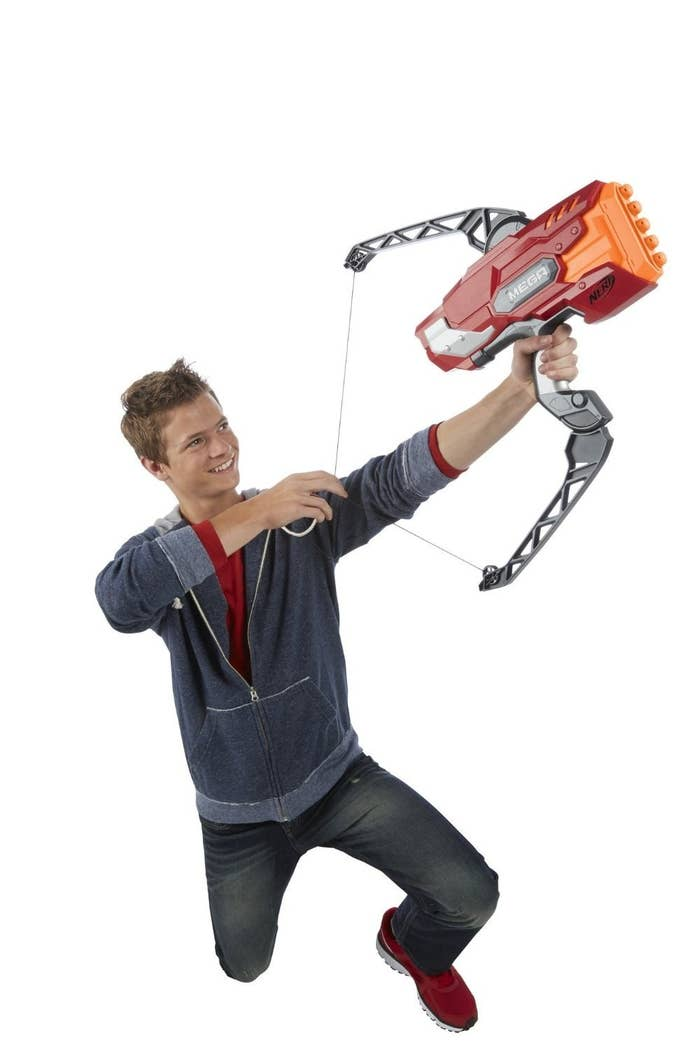 """Most promising review: """"SOOO much fun to shoot my children with the Nerf MEGA THUNDER BOW BLASTER! It's even great fun to say the name of this toy!"""" —InfoFishGet it here."""
