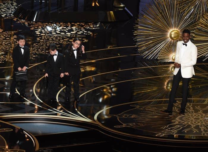Chris Rock hosting the 2016 Academy Awards.
