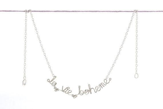 This La Vie Boheme necklace that any RENT fan would adore.