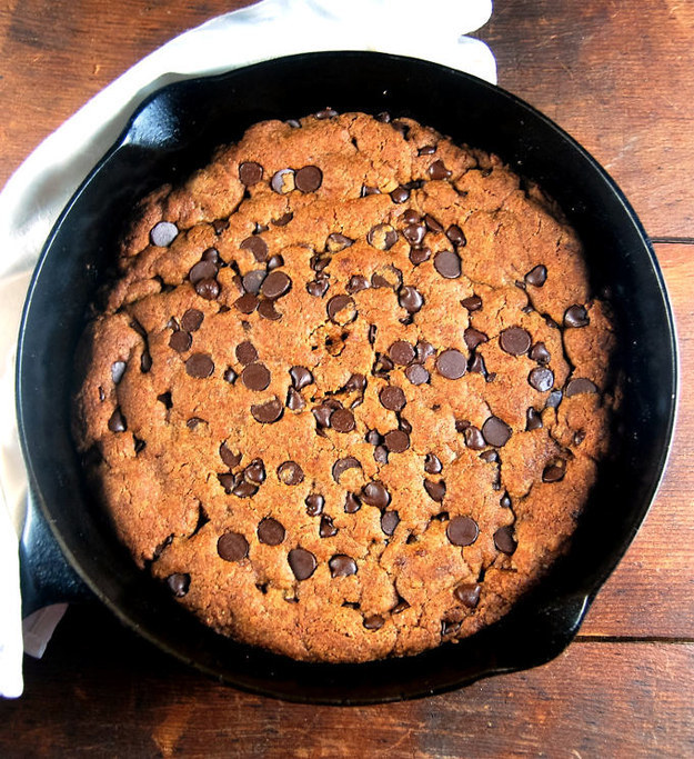 Giant Chocolate Chip Skillet Cookie