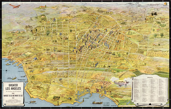 This map of Los Angeles in 1932 lets you see the world the way the stars of yesteryear did.