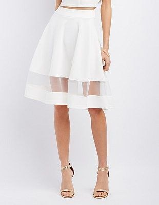 This white skirt with a little sheer stripe.