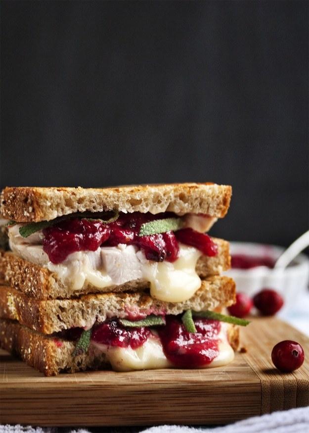 Turkey, Brie, and Cranberry Mustard Panini