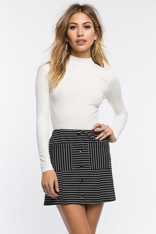 This retro striped skirt.