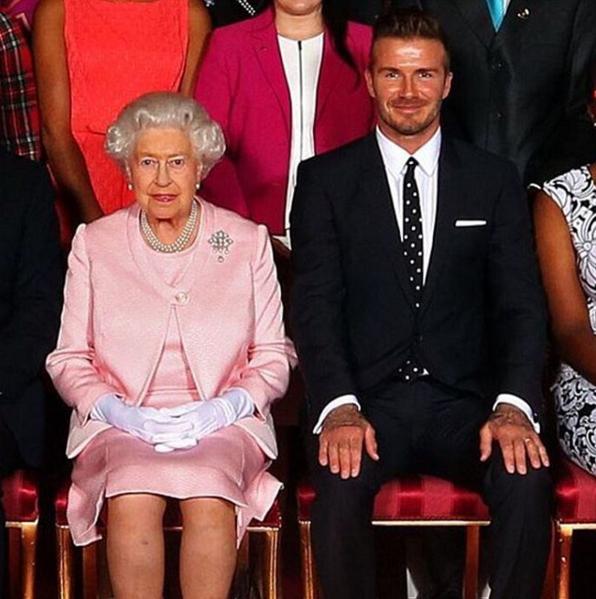 """He's David """"Awkward Sitter"""" Beckham."""
