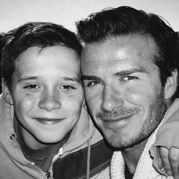 "He's David ""Awesome Dad"" Beckham."