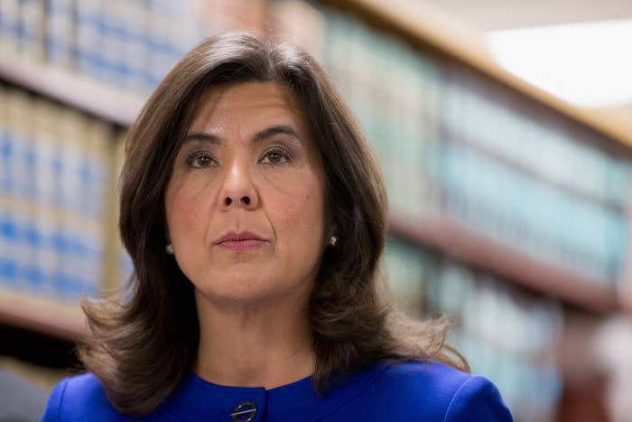 Cook County State's Attorney Anita Alvarez speaks to the media about Chicago Police officer Jason Van Dyke onNov. 24, 2015.